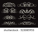 vintage decor elements and... | Shutterstock .eps vector #523085953