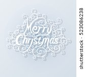 christmas greeting card. merry... | Shutterstock .eps vector #523086238