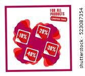 super sale  paper banner  sale... | Shutterstock .eps vector #523087354