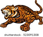 tiger face. tigers color tattoo | Shutterstock .eps vector #523091308