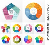 vector circle infographic set.... | Shutterstock .eps vector #523094470