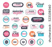 sale shopping stickers and... | Shutterstock . vector #523108360