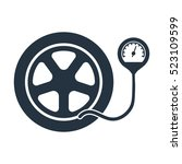 wheel pressure  isolated icon...   Shutterstock .eps vector #523109599