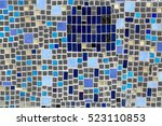 colorful mosaic on the wall ... | Shutterstock . vector #523110853