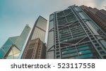 skyscraper buildings and sky... | Shutterstock . vector #523117558