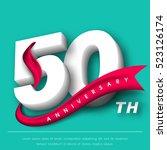 anniversary emblems 50... | Shutterstock .eps vector #523126174
