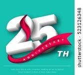 anniversary emblems 25... | Shutterstock .eps vector #523126348