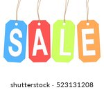 colorful tags with word sale ... | Shutterstock .eps vector #523131208