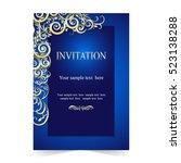 invitation card  wedding card...   Shutterstock .eps vector #523138288