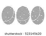 human fingerprint. icon set.... | Shutterstock .eps vector #523145620