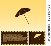 parasol icon | Shutterstock .eps vector #523147438