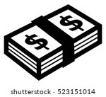 security set bundle of money... | Shutterstock .eps vector #523151014
