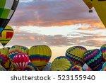 albuquerque hot air balloon... | Shutterstock . vector #523155940