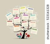 calendar tree 2017 for your... | Shutterstock .eps vector #523161328