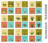 assembly of flat illustrations... | Shutterstock .eps vector #523163068