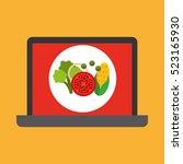shopping online concept order... | Shutterstock .eps vector #523165930