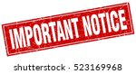 important notice. stamp. square ... | Shutterstock .eps vector #523169968