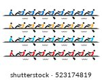 rowing race eights. stylized... | Shutterstock .eps vector #523174819