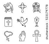 christianity vector icons | Shutterstock .eps vector #523179778