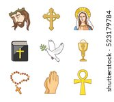 christianity vector icons | Shutterstock .eps vector #523179784