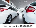 Stock photo new cars at dealer showroom 523181800