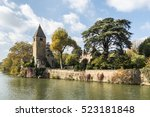 Monumental Church Tower On The...