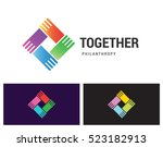 together philanthropy is a... | Shutterstock .eps vector #523182913