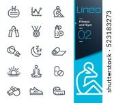 lineo   fitness and gym line... | Shutterstock .eps vector #523183273
