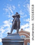 Small photo of Samuel Adams statue at Boston for the movement of American Revolution