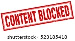 content blocked. stamp. square... | Shutterstock .eps vector #523185418
