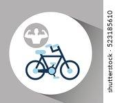 silhouette man bodybuilder... | Shutterstock .eps vector #523185610