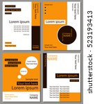 a set of cards for text. the... | Shutterstock .eps vector #523193413