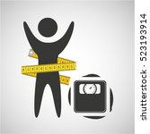 lose weight concept weight... | Shutterstock .eps vector #523193914
