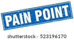 pain point. stamp. square... | Shutterstock .eps vector #523196170