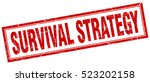 survival strategy. stamp.... | Shutterstock .eps vector #523202158