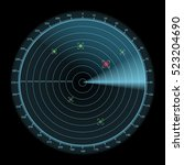 radar display icon  enemy...   Shutterstock . vector #523204690