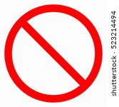 no sign. vector on white... | Shutterstock .eps vector #523214494