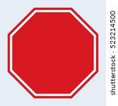 blank stop sign | Shutterstock .eps vector #523214500