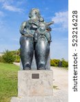 Small photo of Lisbon, Portugal - October 19, 2016: The Maternity, a statue by Fernando Botero. Bought by the city of Lisbon its placed in the Amalia Rodrigues Garden.