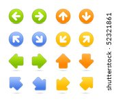 web button colored arrows set... | Shutterstock .eps vector #52321861