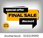 yellow sale banner design.... | Shutterstock .eps vector #523219090