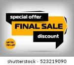 yellow sale banner design.... | Shutterstock .eps vector #523219090