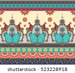 indian traditional seamless... | Shutterstock .eps vector #523228918