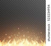 Burning Fire Flames. Glowing...