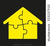 house  puzzle  vector icon ... | Shutterstock .eps vector #523237510