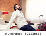 picture showing tired... | Shutterstock . vector #523238698