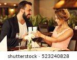picture of romantic couple... | Shutterstock . vector #523240828