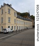 Small photo of SAYN, PART OF THE BOROUGH OF BENDORF ON THE RHINE, GERMANY - 17.10.2016 The Sayn Palace Museum Neo-Gothic facade of the 19th century architecture of romanticism.