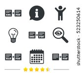 export file icons. convert doc... | Shutterstock . vector #523250614