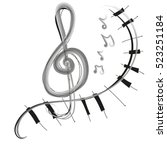 notes and piano   Shutterstock .eps vector #523251184
